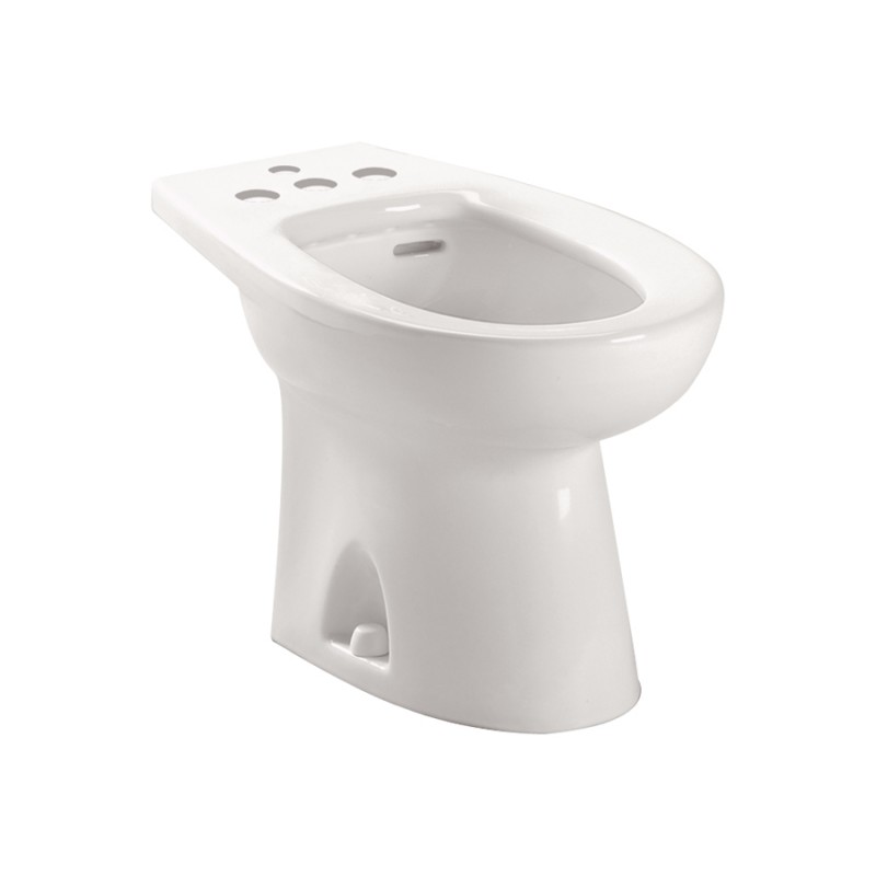 Toto Piedmont Vitreous China Floor Mounted Porcelain Bidet With Four Hole Faucet Drilling