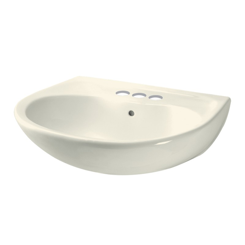 Wondrous Toto Supreme 22 7 8 In Wall Mounted Bathroom Sink With 3 Faucet Holes Sedona Beige Beutiful Home Inspiration Semekurdistantinfo