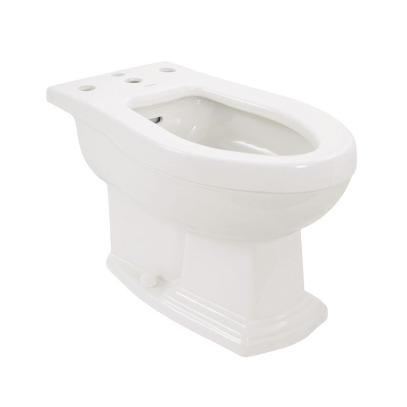 Toto Clayton Vitreous China Floor Mounted Porcelain Bidet With Four Hole Faucet Drilling