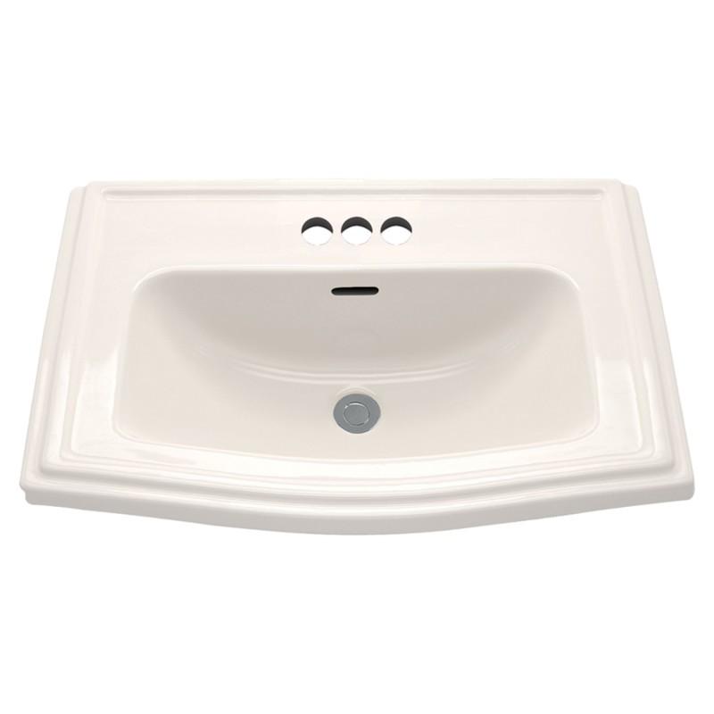 Buy Toto Clayton 25-In Drop-In Bathroom Sink With 3 Faucet Holes ...