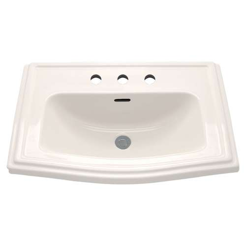 Toto Clayton 25-In Drop-In Bathroom Sink With 3 Faucet Holes