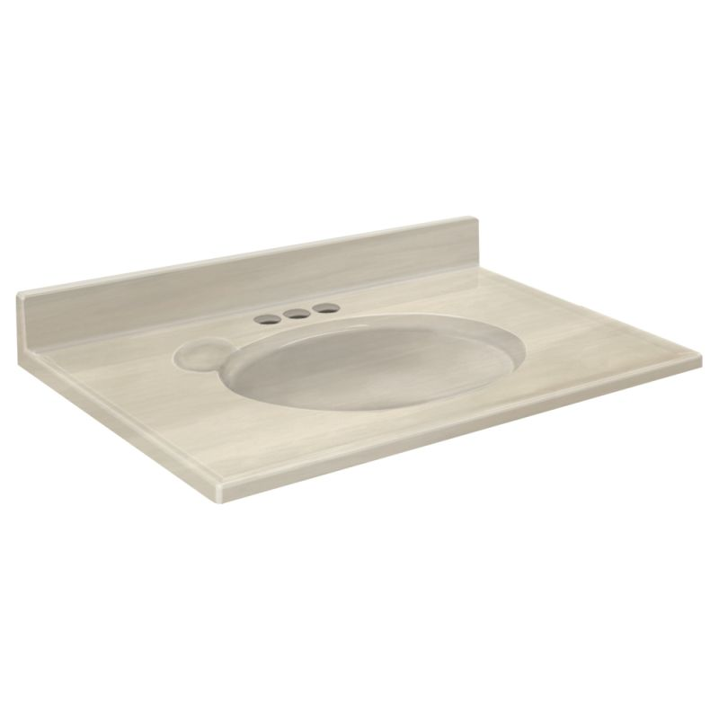 Transolid Cultured Marble 19-in x 17-in Vanity Top