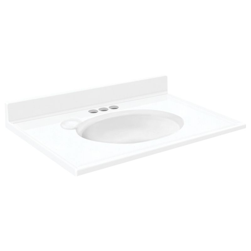 Transolid Cultured Marble 25-in x 19-in Vanity Top