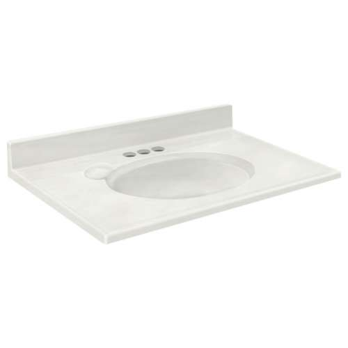 Transolid Cultured Marble 31-in x 19-in Vanity Top
