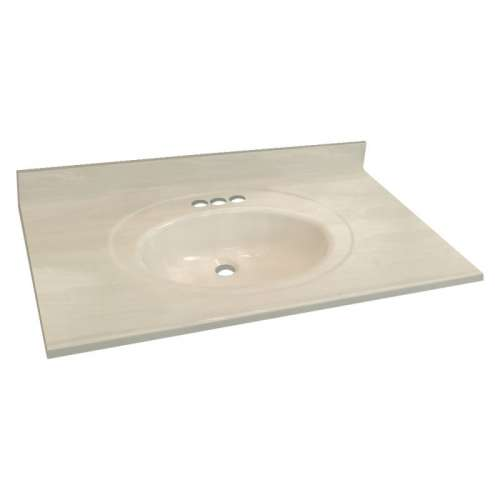 Transolid Cultured Marble 31-in x 22-in Vanity Top