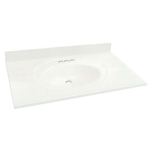 Transolid Cultured Marble 37-in x 22-in Vanity Top