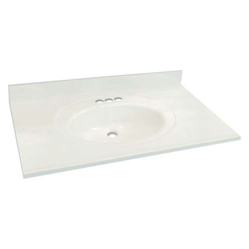 Transolid Cultured Marble 43-in x 22-in Vanity Top