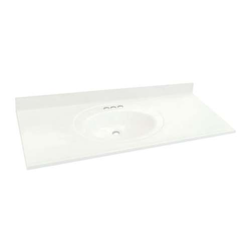 Transolid Cultured Marble 61-in x 22-in Vanity Top