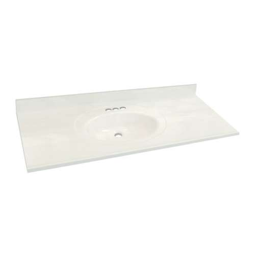 Transolid 3-Pack Cultured Marble 61-in x 22-in Vanity Tops