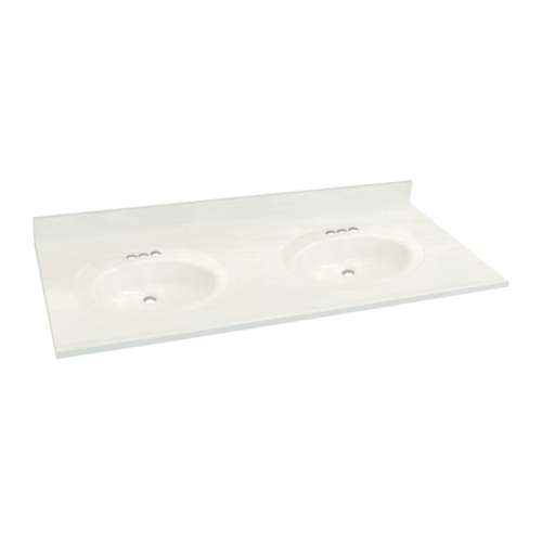 Transolid 3-Pack Cultured Marble 61-in x 22-in Double Bowl Vanity Tops