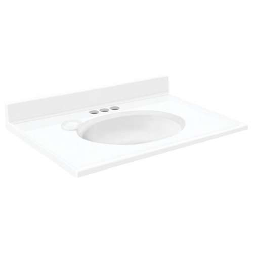 Transolid 6-Pack Cultured Marble 19-in x 17-in Vanity Tops