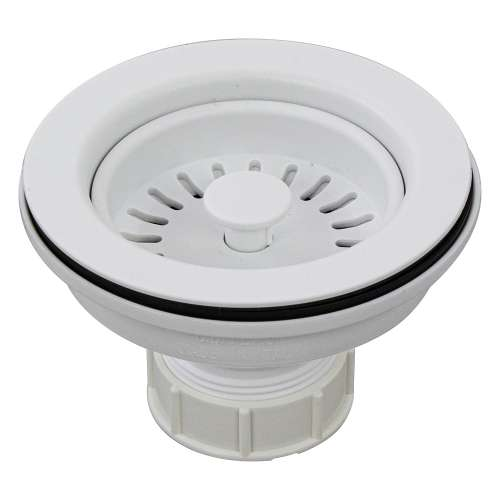 Transolid 3.5-in Plastic Strainer in White