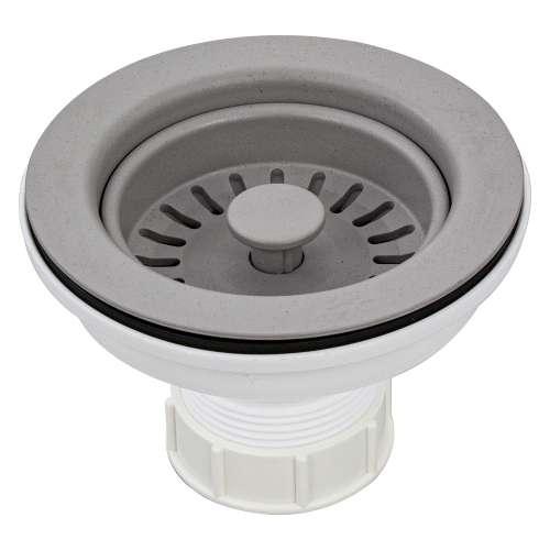 Transolid 3.5-in Plastic Strainer in Concrete Grey