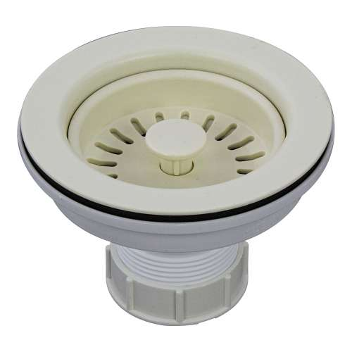 Transolid 3.5-in Plastic Strainer in Biscuit