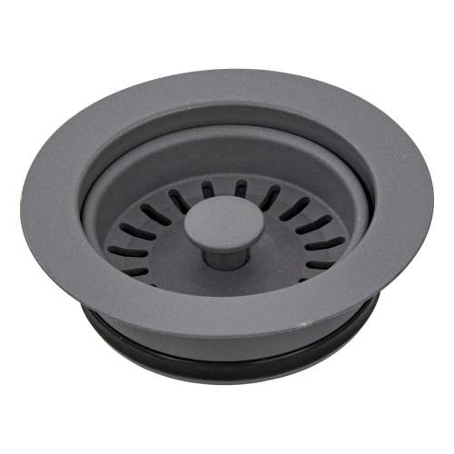 Transolid 3.5-in Plastic Disposal Strainer in Grey