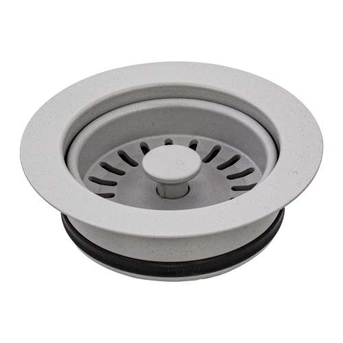 Transolid 3.5-in Plastic Disposal Strainer in Concrete Grey