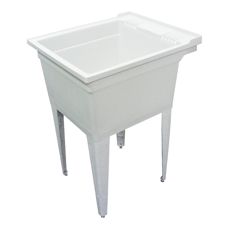 Transolid Compostite 22-in Floor Mounted Laundry Tub