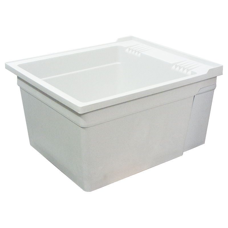 Transolid Compostite 22-in Wall Mounted Laundry Tub