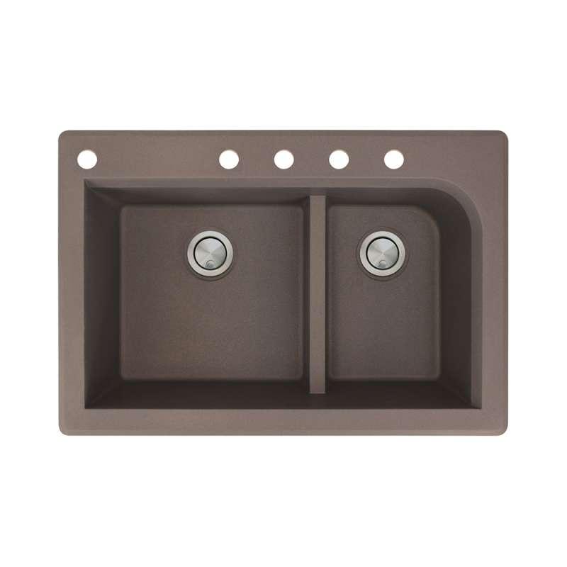Transolid Radius Granite 33-in Drop-in Kitchen Sink