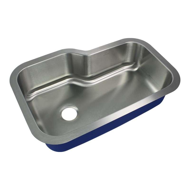 Transolid Meridian Stainless Steel 33-in Undermount Kitchen Sink