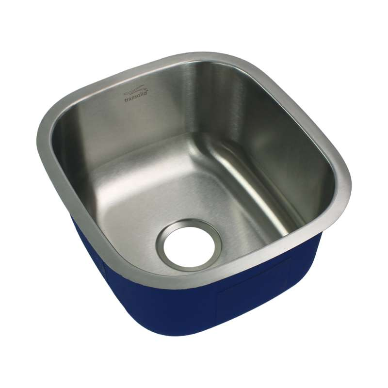 Transolid Meridian Stainless Steel 17-in Undermount Kitchen Sink