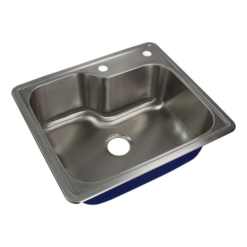 Transolid Meridian Stainless Steel 25-in Drop-in Kitchen Sink
