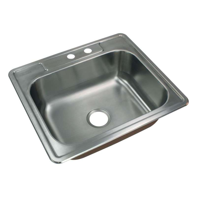 Transolid Classic Stainless Steel 25-in Drop-in Kitchen Sink