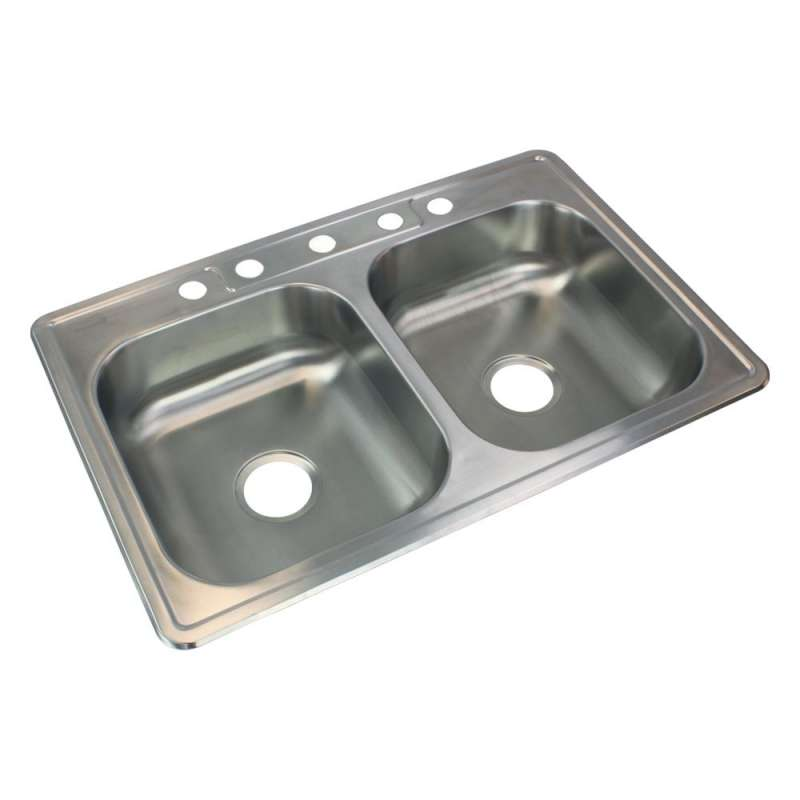 Transolid Select Stainless Steel 33-in Drop-in Kitchen Sink