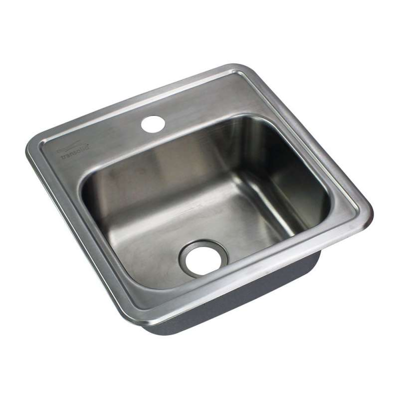 Transolid Select Stainless Steel 15-in Drop-in Kitchen Sink