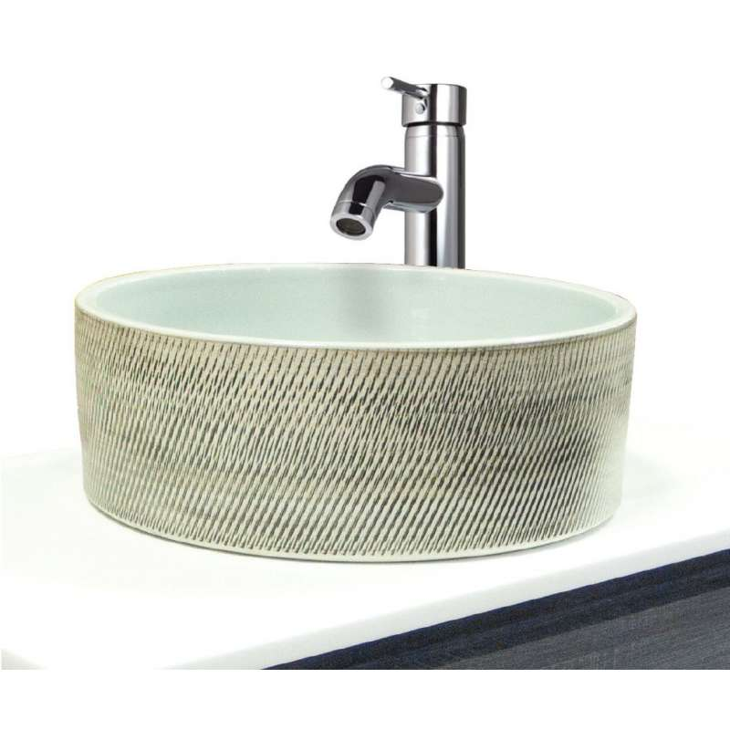 Transolid Chase Fireclay 15.75-in Round Vessel Sink