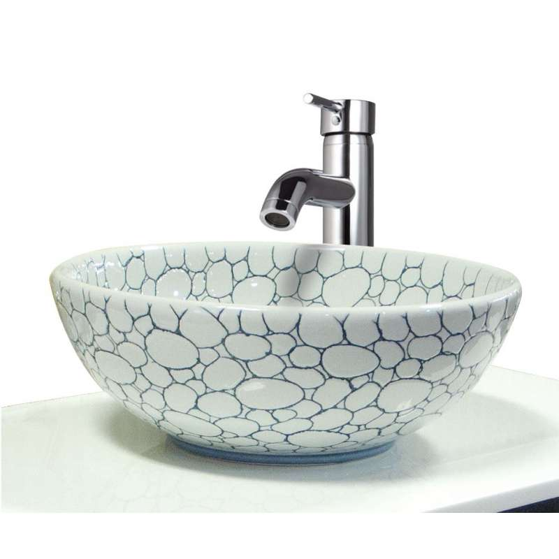 Transolid Valbonne Fireclay 16-in Round Vessel Sink
