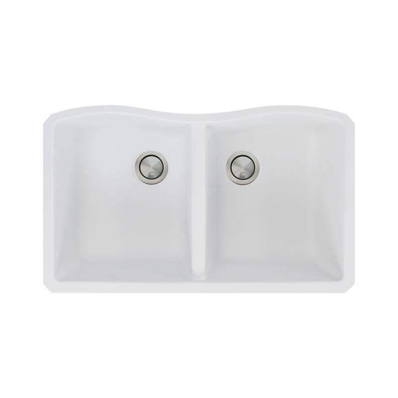 Transolid Aversa Granite 32-in Undermount Kitchen Sink