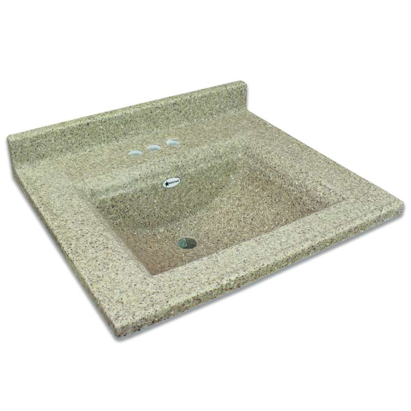 Transolid Savannah 37 In Premium Cultured Marble Vanity Top With Integrated Sink