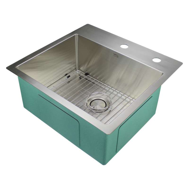 Transolid Diamond Stainless Steel 23-in Dual Mount Kitchen Sink