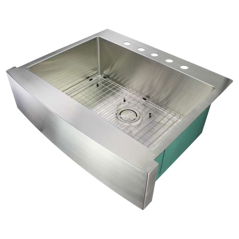 Transolid Diamond Stainless Steel 30-in Dual Mount Kitchen Sink
