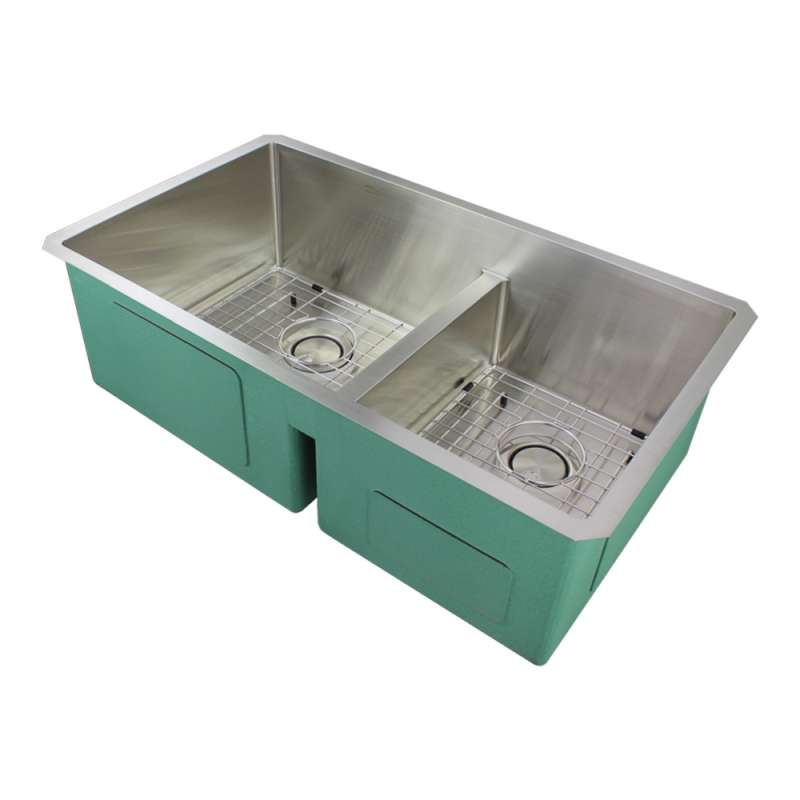 Transolid Diamond Stainless Steel 33-in Undermount Kitchen Sink