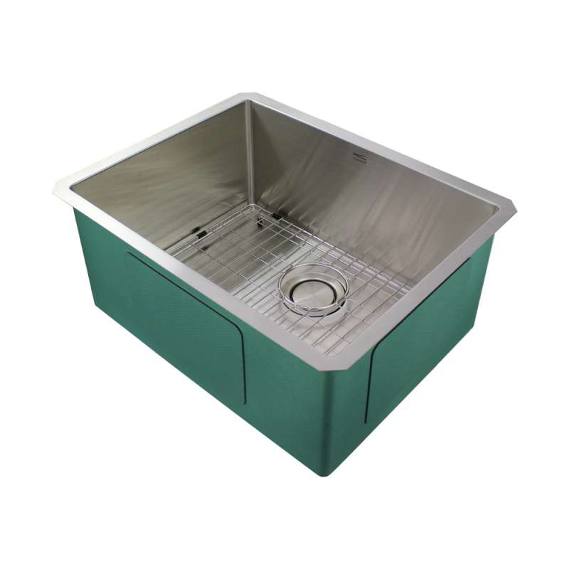 Transolid Diamond Stainless Steel 23-in Undermount Kitchen Sink