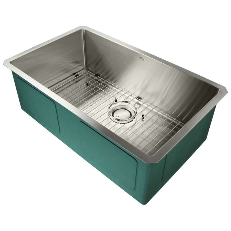 Transolid Diamond Stainless Steel 30-in Undermount Kitchen Sink