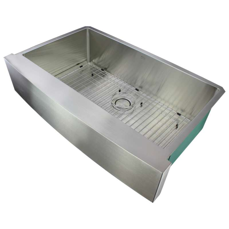 Transolid Diamond Stainless Steel 32-in Farmhouse Sink