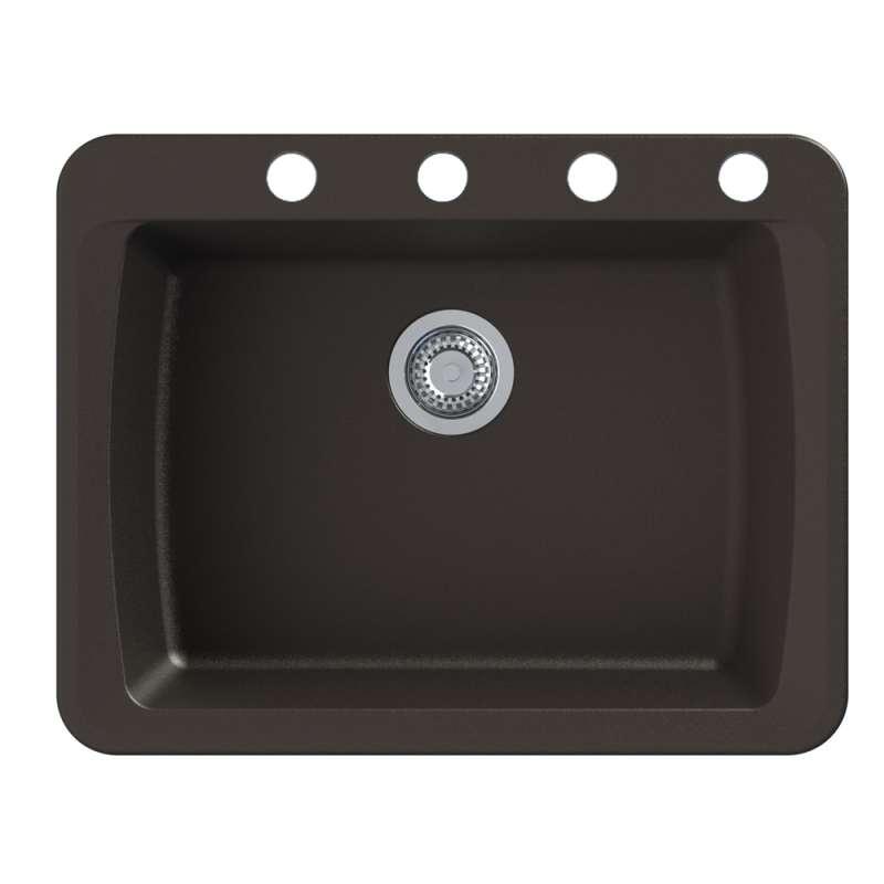 Transolid Genova 25-in Dual-mount Kitchen Sink