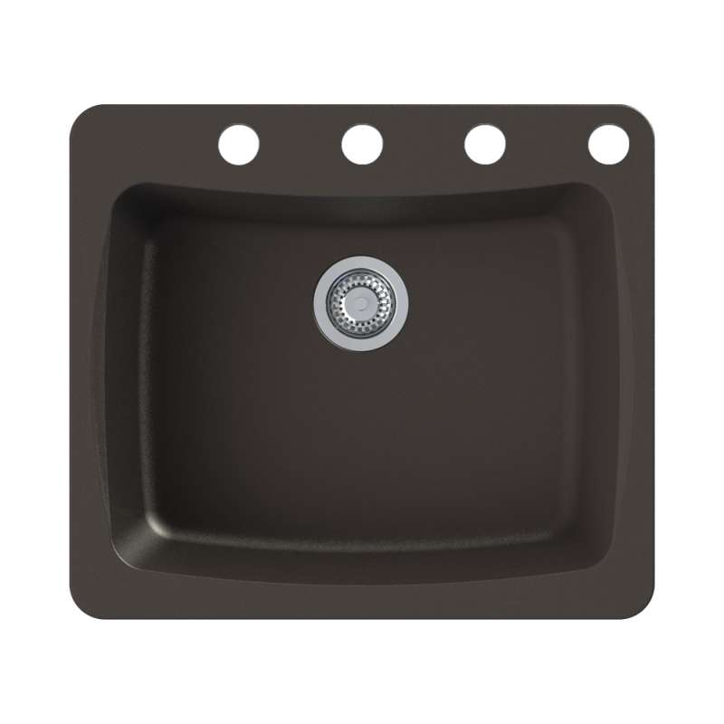 Transolid Genova 25-in Dual-mount Kitchen Sink