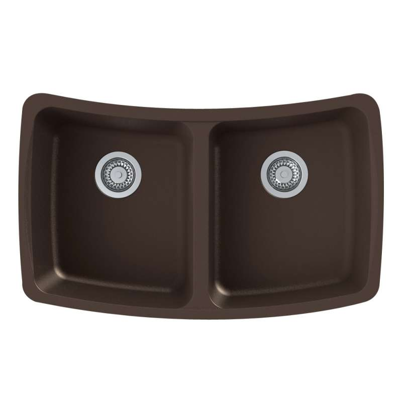 Sale Transolid Genova 33-in Undermount Kitchen Sink  sc 1 st  Bath1 & Transolid Genova 33-in Undermount Kitchen Sink in Espresso GUDC3118 ...