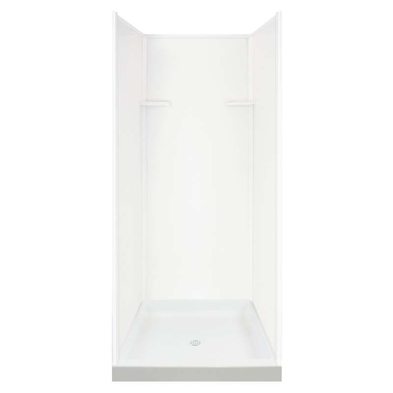 Transolid Solid Surface 36-in x 72-in Alcove Shower Wall and Base Kit