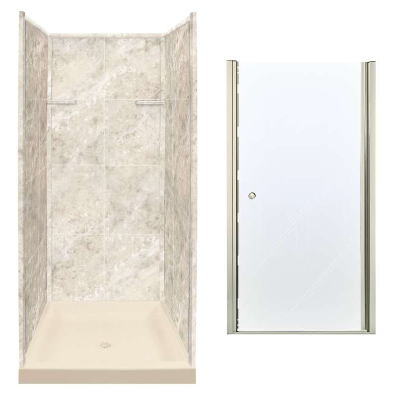 Buy Transolid Solid Surfaceclear Glass 36 In X 72 In Alcove Shower