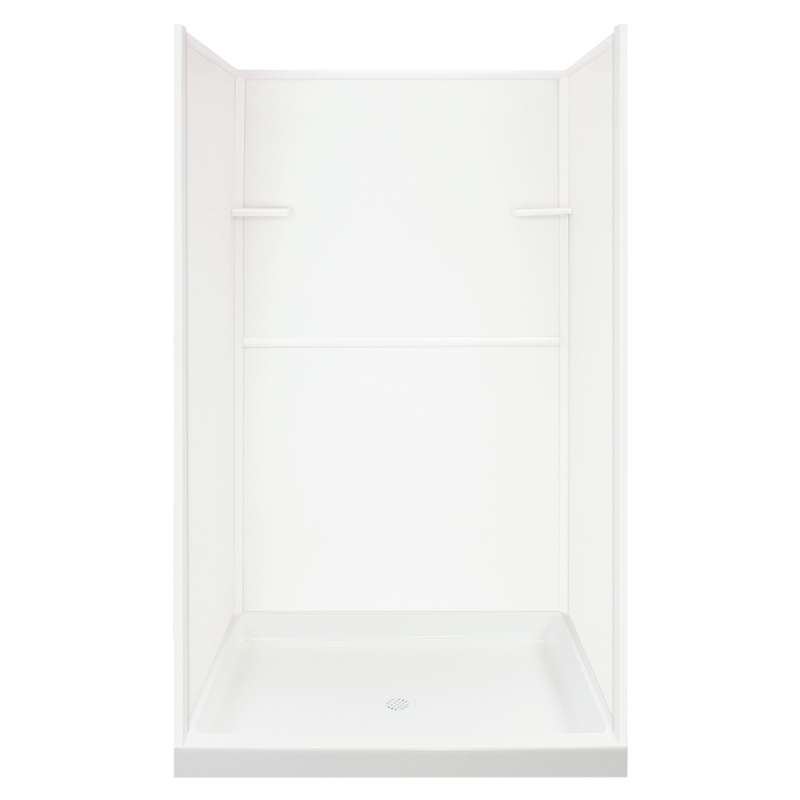 Transolid Solid Surface 48-in x 72-in Alcove Shower Wall and Base Kit