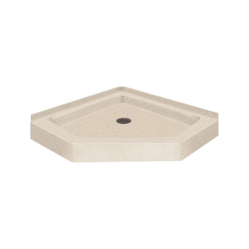 Sale Transolid Decor Solid Surface 36 In X 36 In Neo Angle Shower Base