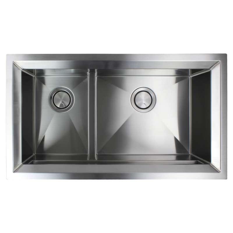 Transolid Studio Stainless Steel 33 In Undermount Kitchen Sink In