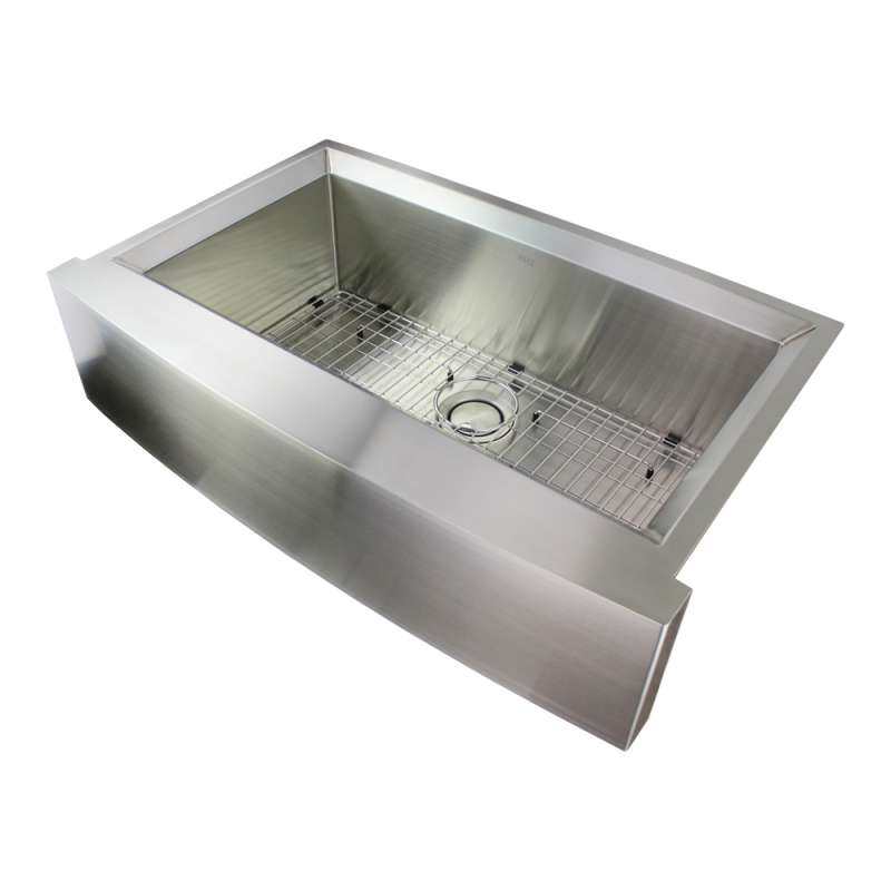 Transolid Studio Stainless Steel 36-in Farmhouse Sink