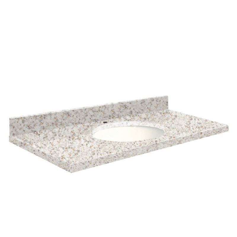 Transolid Quartz 25 In X 19 Vanity Top With Eased Edge