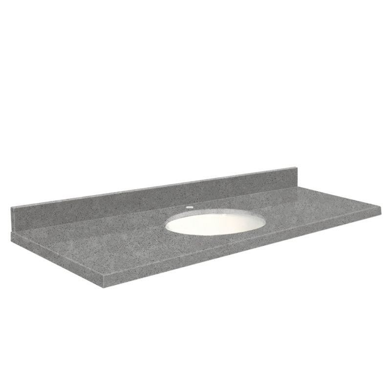 Transolid Quartz 61 In X 22 Vanity Top With Eased Edge